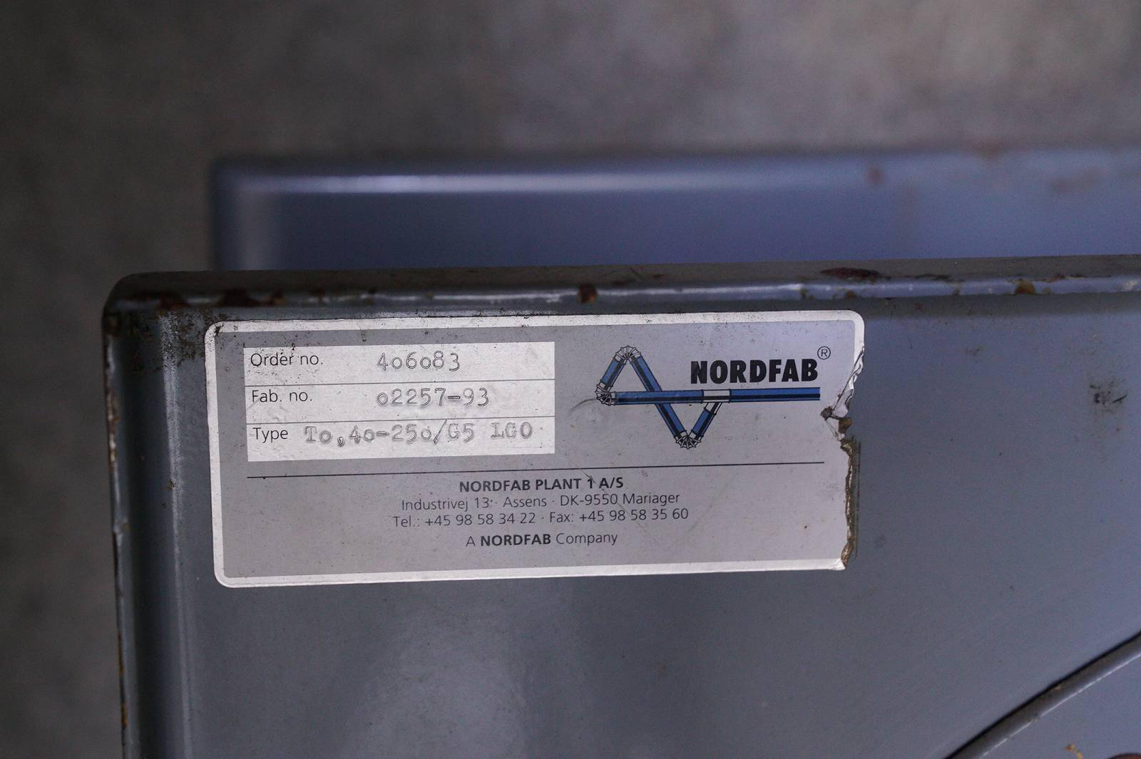 Auction » NORDFAB To 40-25o/G5 LG0