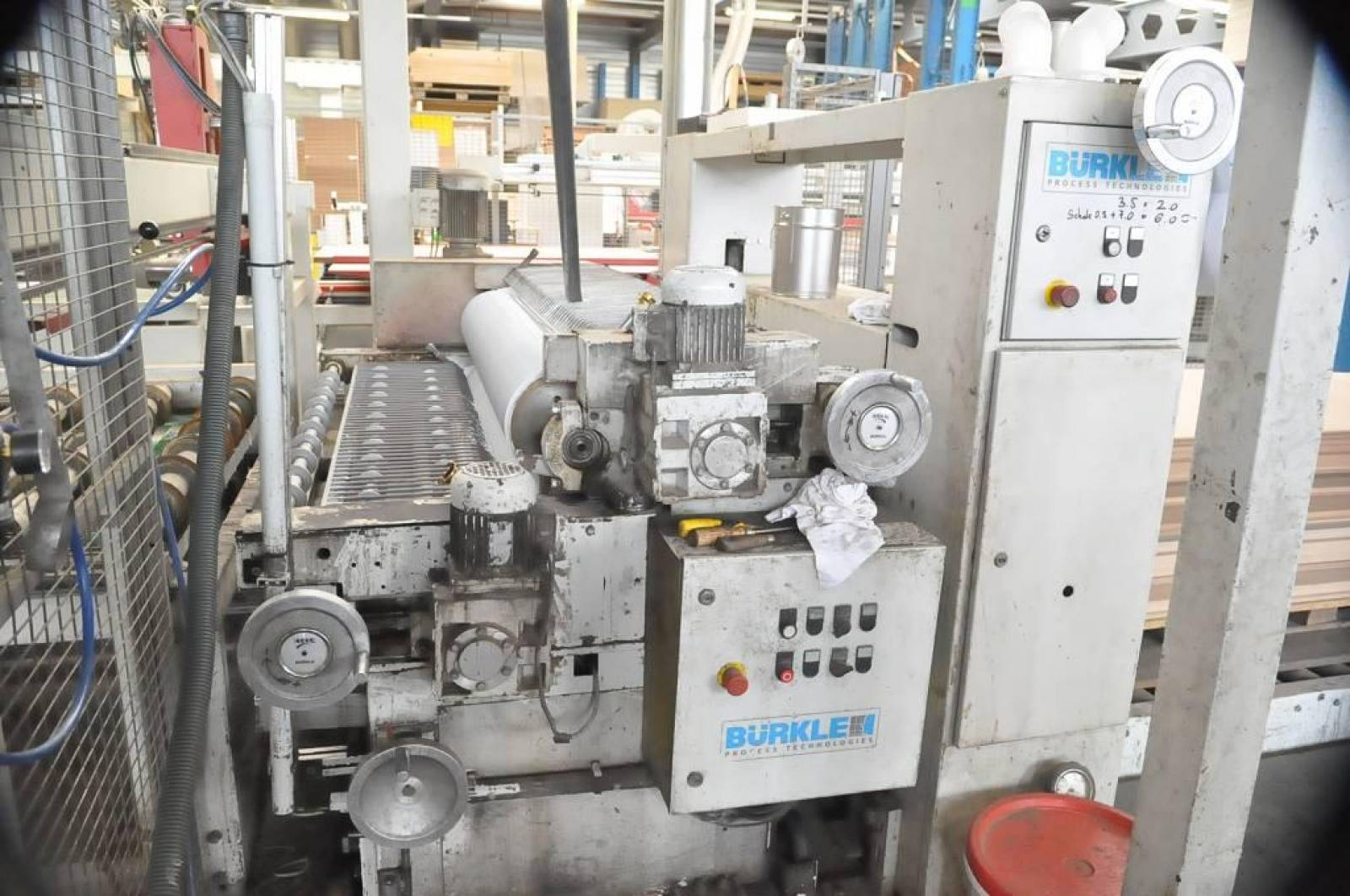 Platen press with automatic feed BÜRKLE OPTIMA 2x2 buy second-hand