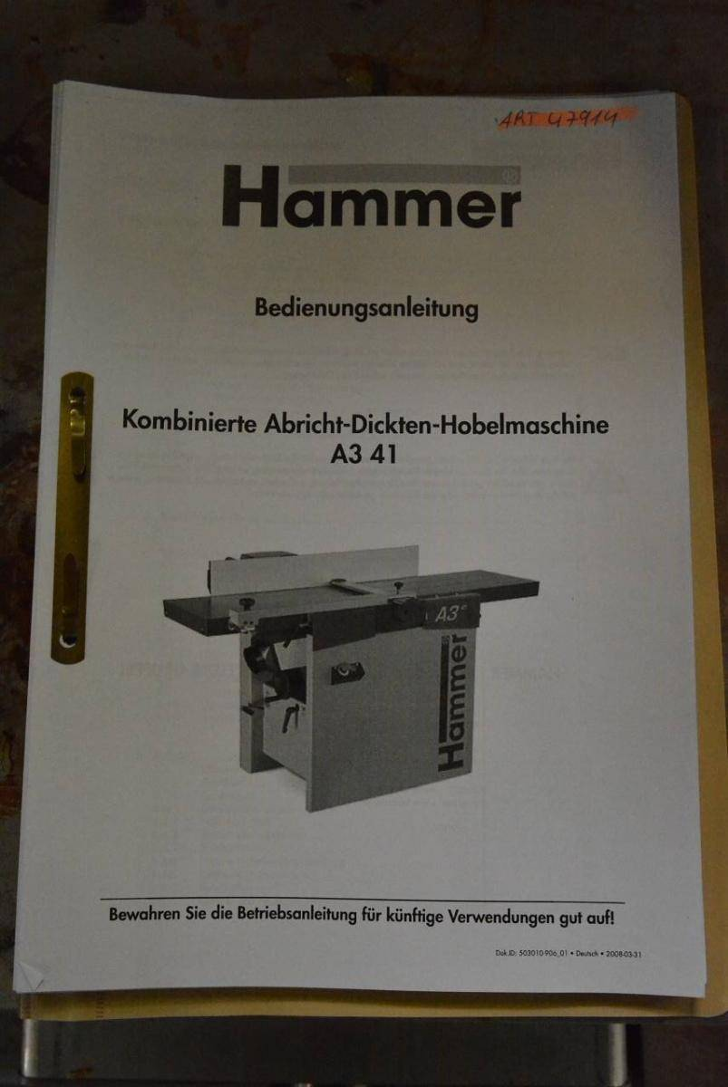 Auction » HAMMER A3 41 /05