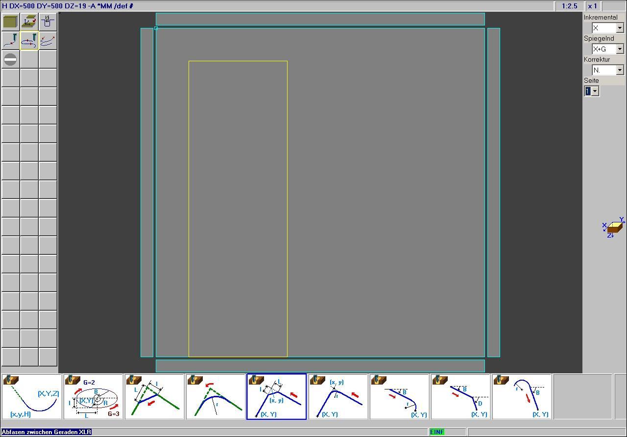 SCM Xilog3 WOP Oberfläche