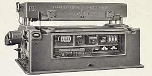 Erste Breitbandschleifmaschine